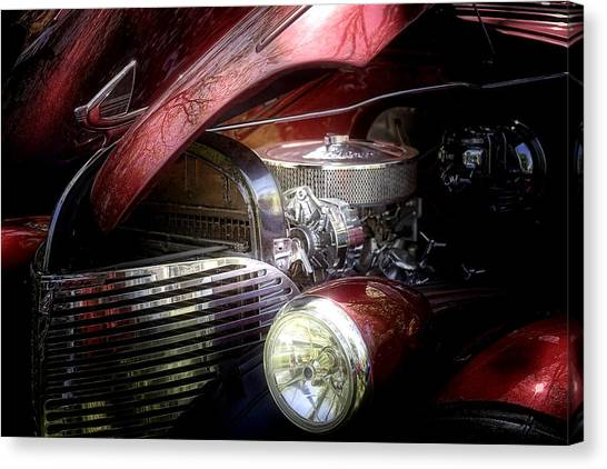 Street Rods Canvas Print - Chevrolet Master Deluxe 1939 by Tom Mc Nemar