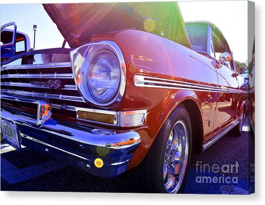 Chevrolet Red Canvas Print by LLaura Burge