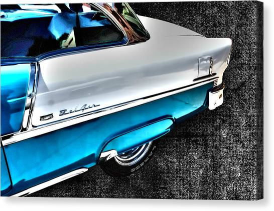 Chevy Bel Air Art 2 Tone Side View Art 1 Canvas Print