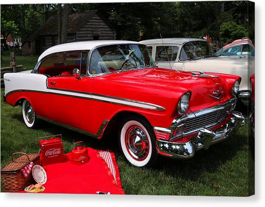 Chevy Bel Air In Red Canvas Print