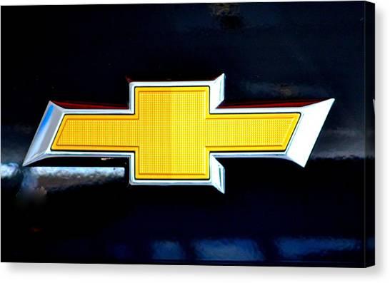 Chevy Bowtie Camaro Black Yellow Iphone Case Mancave Canvas Print