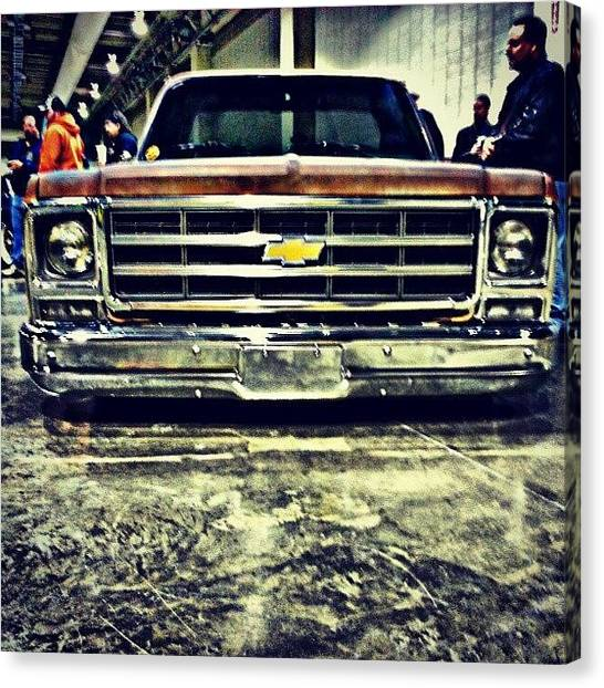Offroading Canvas Print - #chevy #chevrolet #instagood #instaauto by Josh Lang