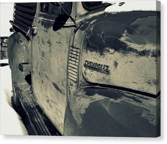 Arroyo Seco Chevy In Silver Canvas Print