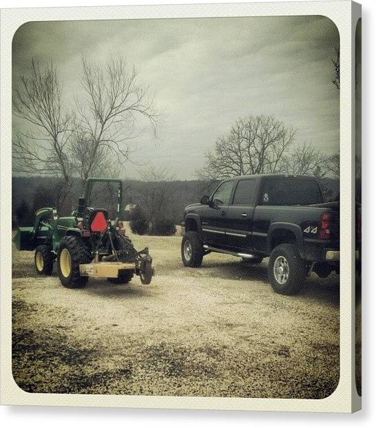 Offroading Canvas Print - #chevy #johndeere #truck #tractor #4x4 by Joshua Wysocki