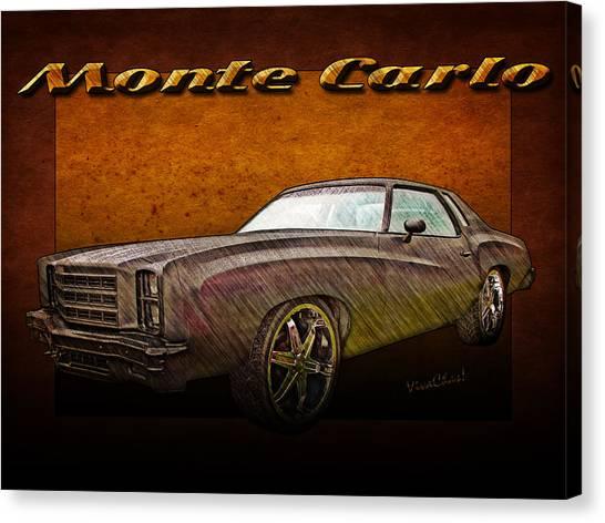 Chevy Monte Carlo Poster Canvas Print