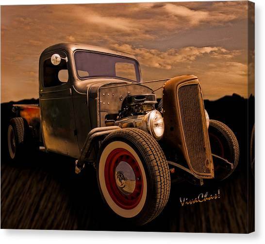 Chevy Rat Rod Pickup 1936 Canvas Print