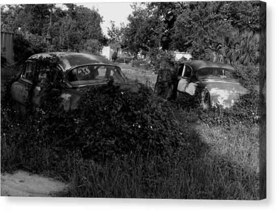 Chevys By The Levee Canvas Print