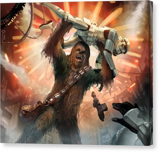 Chewbacca Canvas Print - Chewbacca - Star Wars The Card Game by Ryan Barger