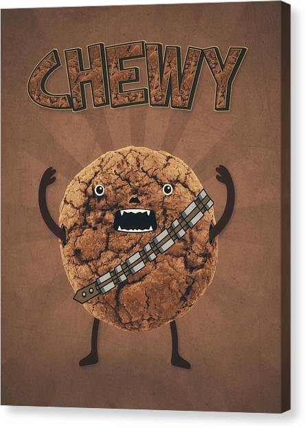 Chewbacca Canvas Print - Chewy Chocolate Cookie Wookiee by Philipp Rietz