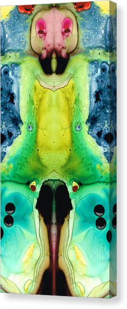 Ants Canvas Print - Chi Ant - Aka Mr Happy Bug By Sharon Cummings by Sharon Cummings