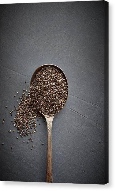 Chia Seeds Canvas Print by Lew Robertson