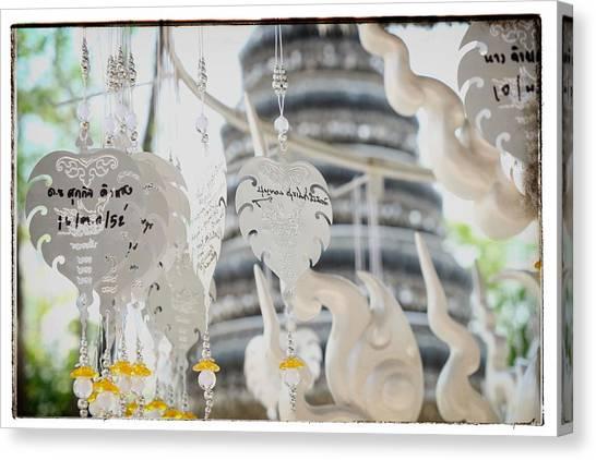 Chiang Rai Temple Canvas Print by River Engel