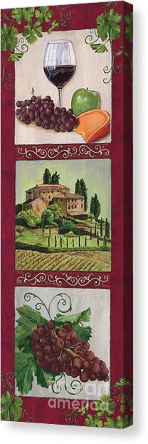 Pour Canvas Print - Chianti And Friends Collage 1 by Debbie DeWitt