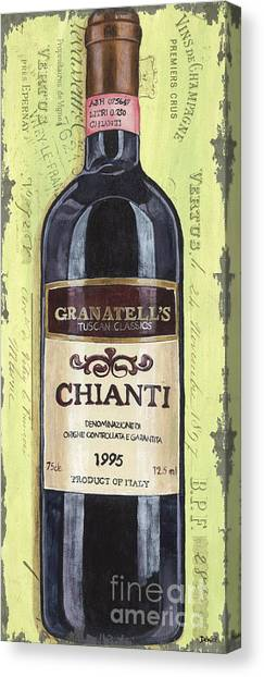 Winery Canvas Print - Chianti And Friends Panel 1 by Debbie DeWitt