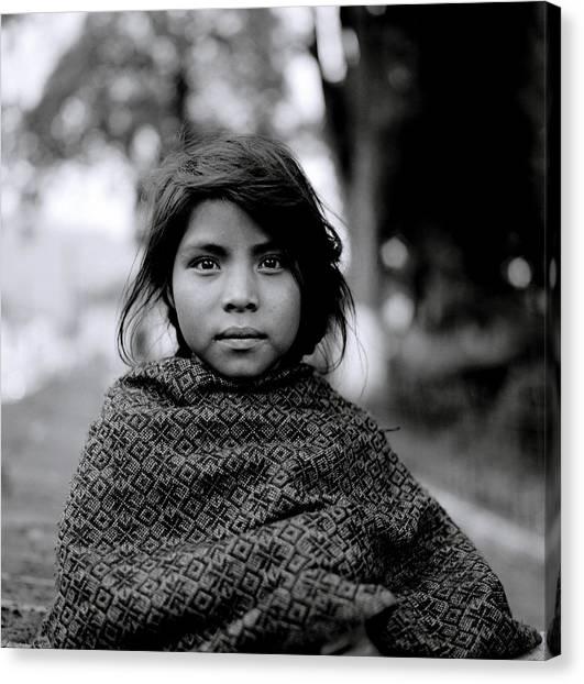 Chiapas Girl Canvas Print