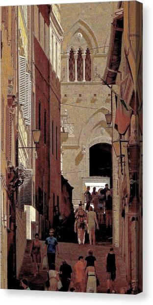 Chiaroscuro Siena  Canvas Print