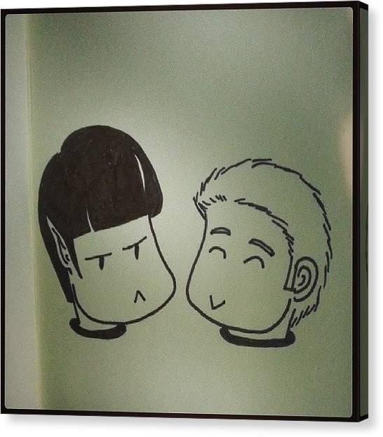 Spock Canvas Print - #chibi #spock E #kirk Per @daze_d ♥ by Daniela Barisone