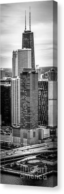 Hancock Building Canvas Print - Chicago Aerial Vertical Panorama Photo by Paul Velgos