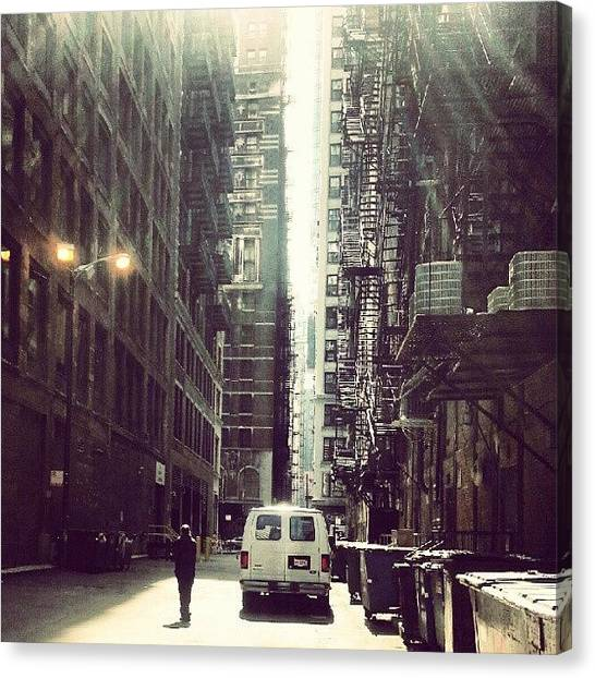 Architecture Canvas Print - Chicago Alleyway by Jill Tuinier
