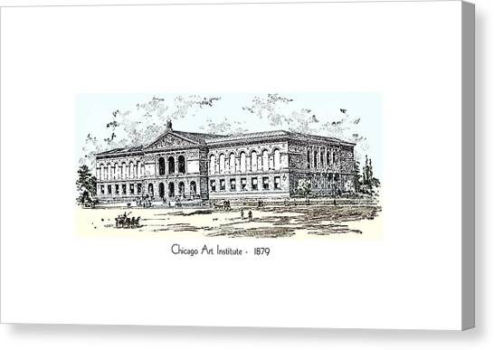 Chicago Art Institute -  1879 Canvas Print