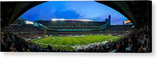 Soldier Field Canvas Print - Chicago Bears At Soldier Field by Steve Gadomski