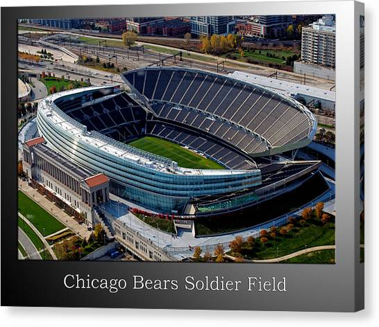 Walter Payton Canvas Print - Chicago Bears Soldier Field by Thomas Woolworth