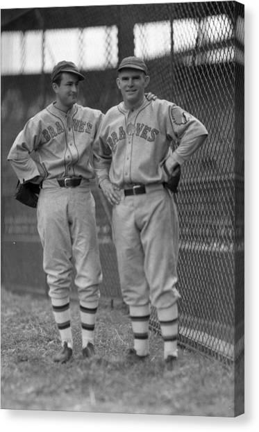 Braces Canvas Print - Boston Baseball  by Retro Images Archive
