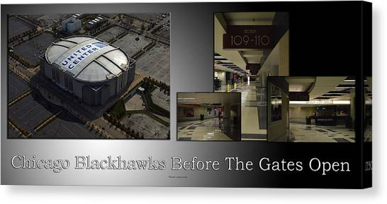 Patrick Kane Canvas Print - Chicago Blackhawks Before The Gates Open Interior 2 Panel Sb 01 by Thomas Woolworth