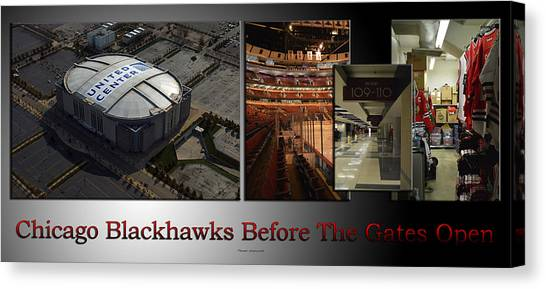 Patrick Kane Canvas Print - Chicago Blackhawks Before The Gates Open Interior 2 Panel Sb 02 by Thomas Woolworth