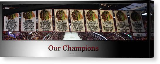Patrick Kane Canvas Print - Chicago Blackhawks Our Champions Sb by Thomas Woolworth