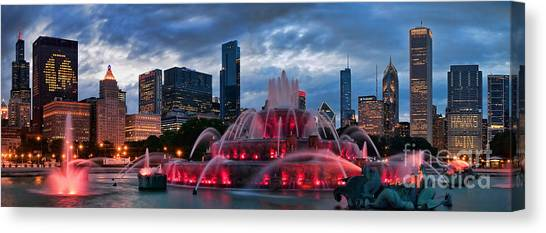 Blackhawk Canvas Print - Chicago Blackhawks Skyline by Jeff Lewis