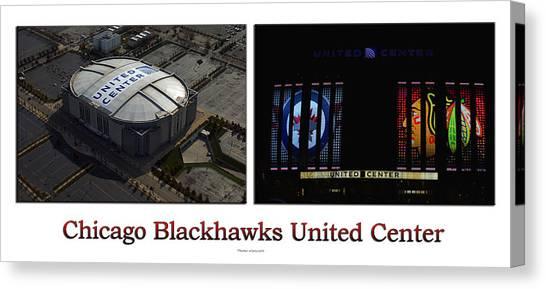 Patrick Kane Canvas Print - Chicago Blackhawks United Center 2 Panel White Signage by Thomas Woolworth