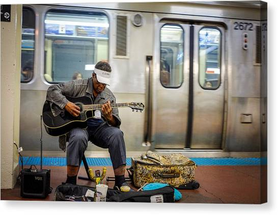 Chicago Bluesman Canvas Print