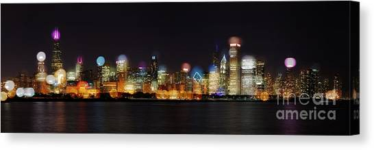 Chicago Bokeh Canvas Print