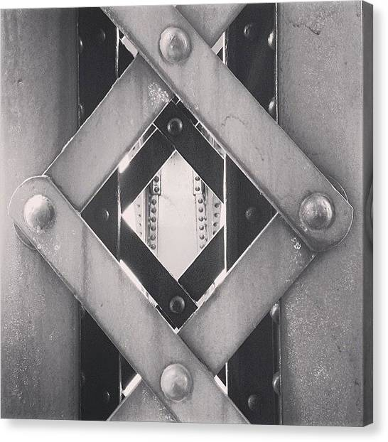 Geometric Canvas Print - Chicago Bridge Iron Close-up Picture by Paul Velgos