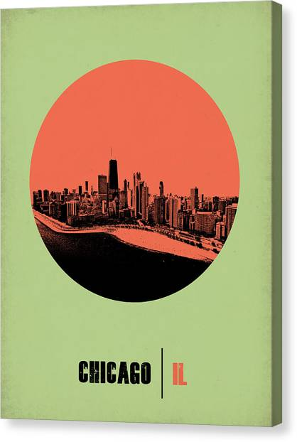 University Of Illinois Canvas Print - Chicago Circle Poster 1 by Naxart Studio