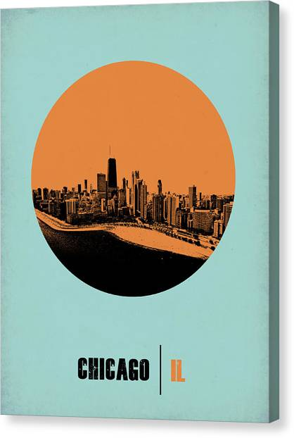 University Of Illinois Canvas Print - Chicago Circle Poster 2 by Naxart Studio
