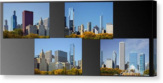Chicago Skyline Canvas Print - Chicago City Of Skyscrapers by Christine Till
