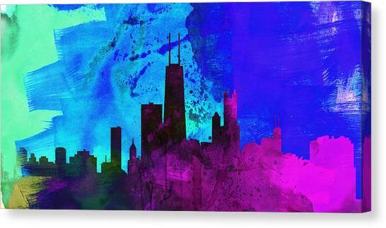 Chicago Skyline Canvas Print - Chicago City Skyline by Naxart Studio