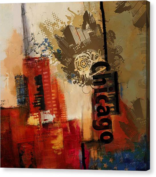 University Of Chicago Canvas Print - Chicago Collage Alternative by Corporate Art Task Force