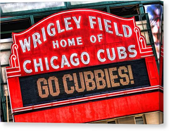 Chicago Cubs Canvas Print - Chicago Cubs Wrigley Field by Christopher Arndt