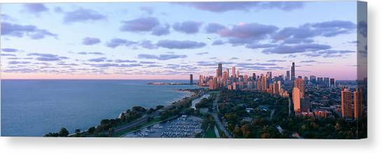Landform Canvas Print - Chicago, Diversey Harbor Lincoln Park by Panoramic Images