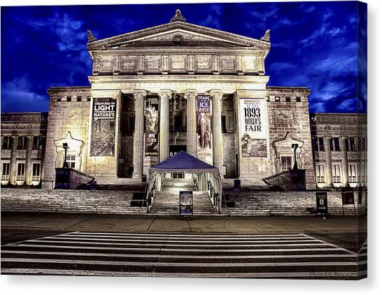 Chicago Field Museum Blue Hour Canvas Print by Michael  Bennett
