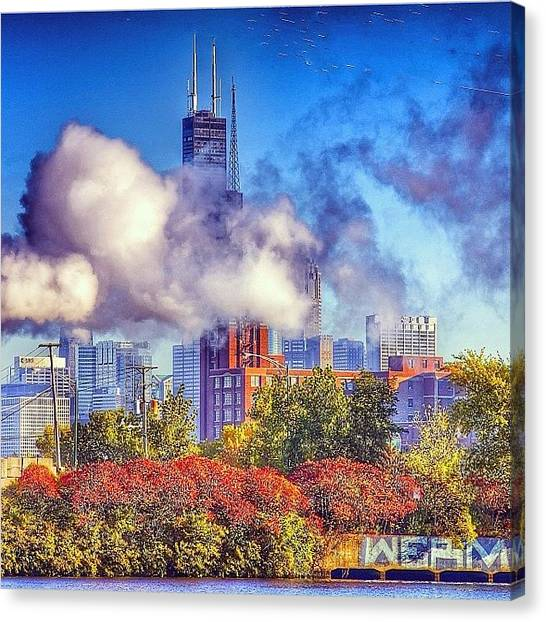 Metropolis Canvas Print - Chicago Fire #chicago #chigram #chitown by Brian Stoneman