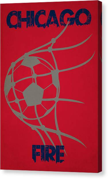 Chicago Fire Canvas Print - Chicago Fire Goal by Joe Hamilton