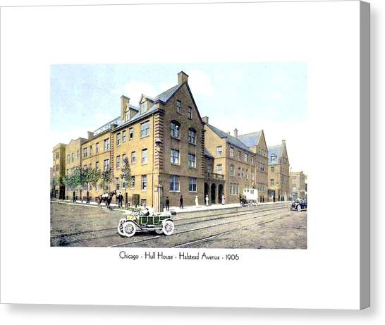 Chicago Illinois - Hull House - Halstead Avenue - 1906 Canvas Print