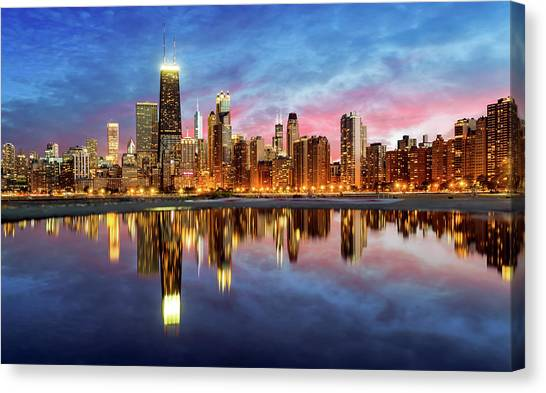 Chicago Canvas Print by Joe Daniel Price