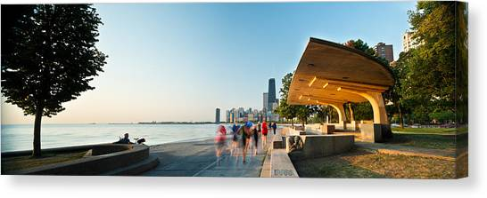 Hancock Building Canvas Print - Chicago Lakefront Panorama by Steve Gadomski