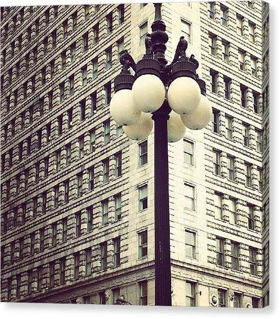 Patterns Canvas Print - Chicago Lamp Post by Jill Tuinier