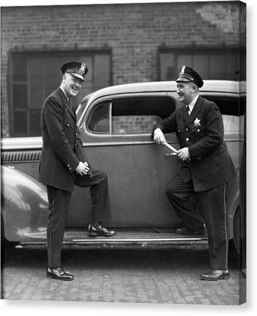 Braces Canvas Print - Chicago Law Enforcers by Retro Images Archive
